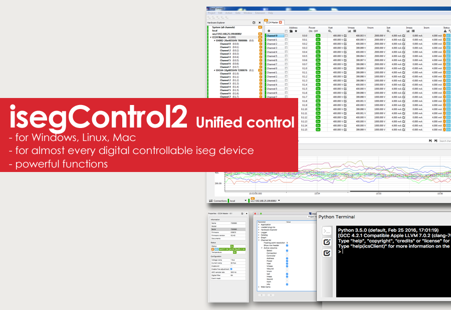 isegControl2 - Unified Control Software