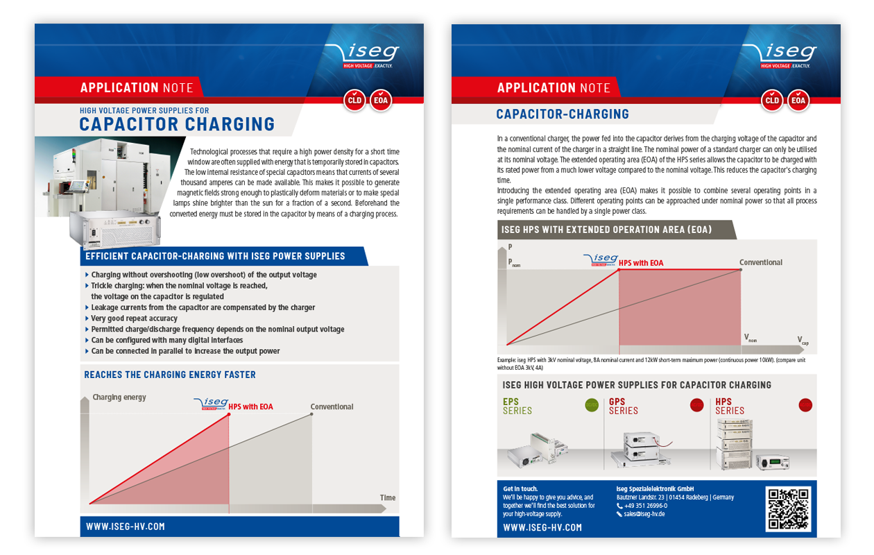 Application note: High voltage power supplies for capacitor charging