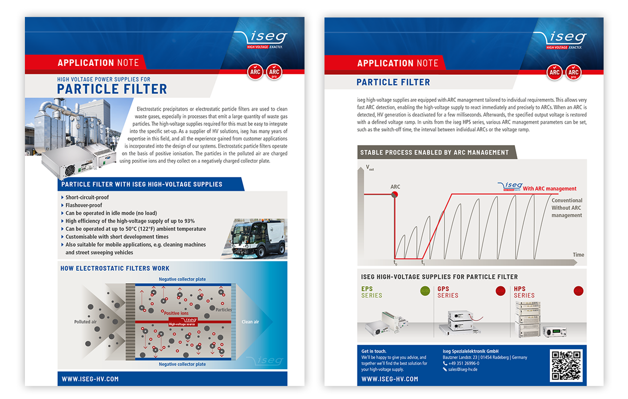 Application note: High voltage power supplies for particle filter