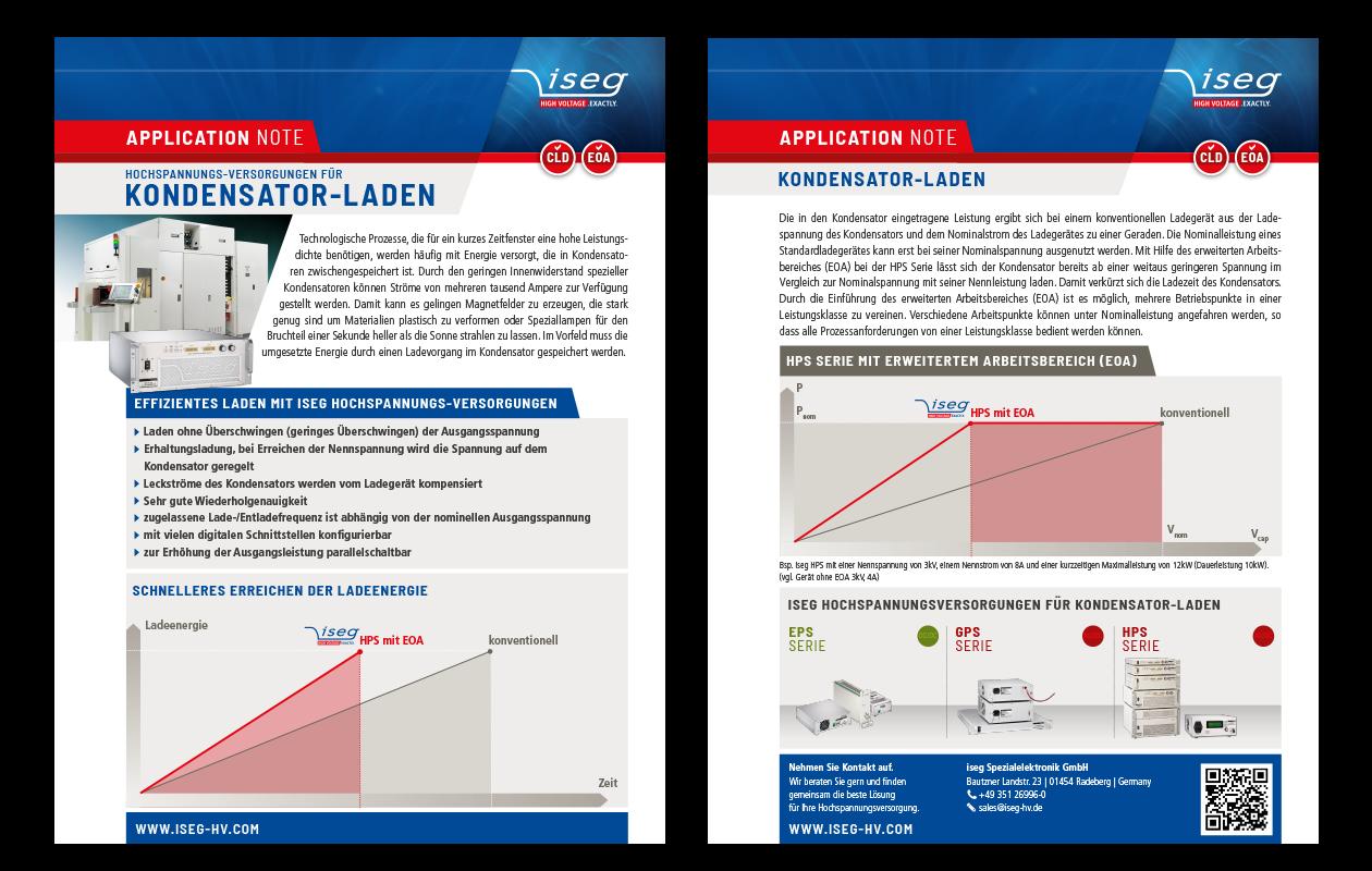 Application Note: Hochspannungs-Versorgungen für Kondensator-Laden