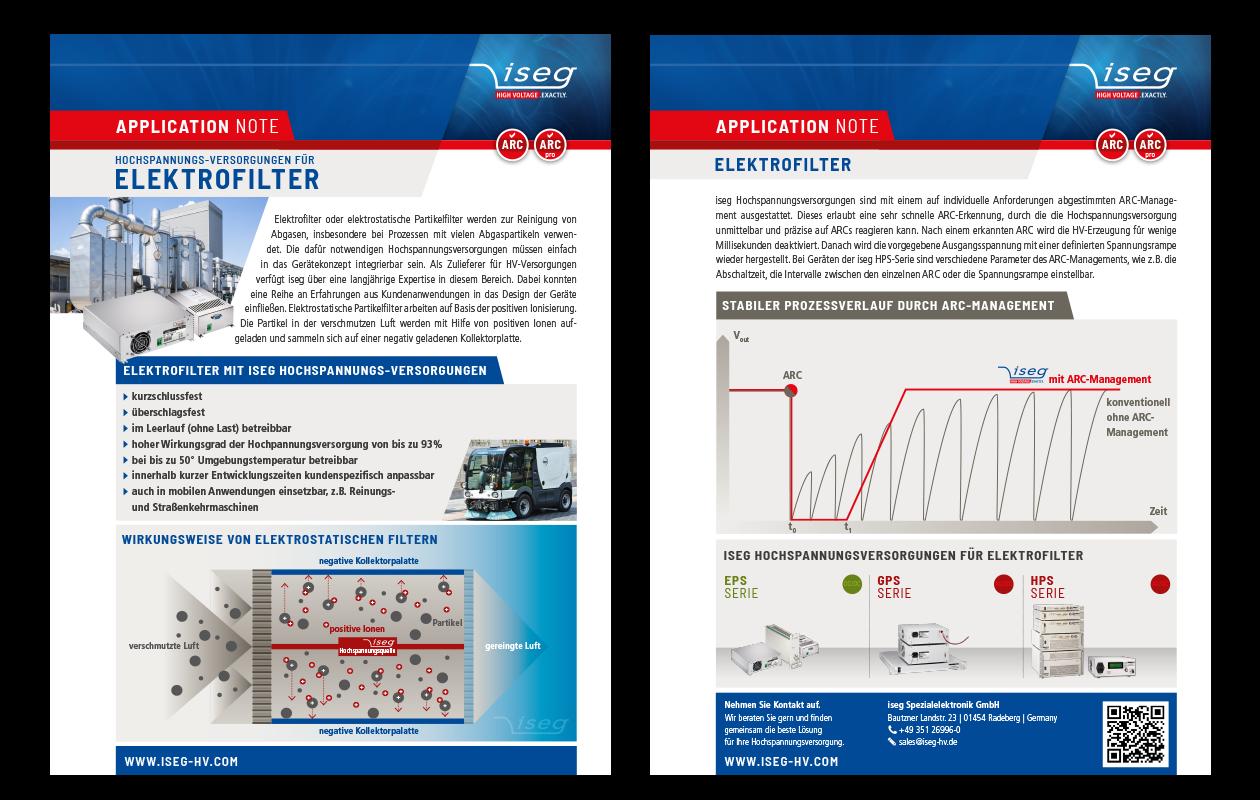 Application Note: Hochspannungs-Versorgungen für Elektrofilter