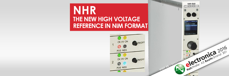 iseg NHR - NIM high voltage power supply module